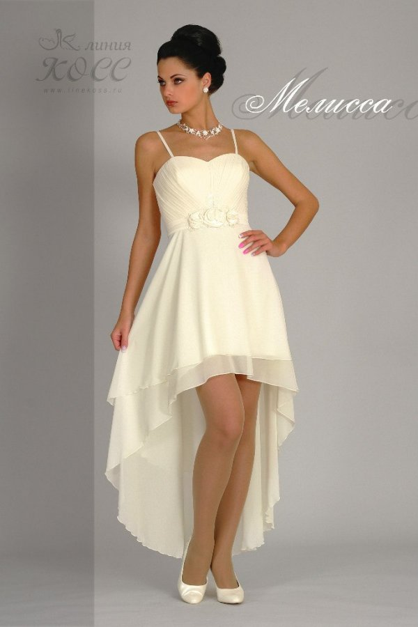 Свадебное платье Мелисса с ассиметричной юбкой