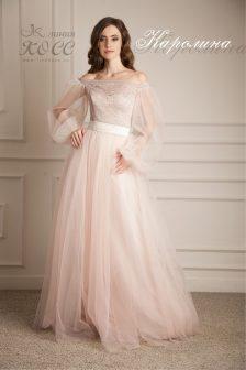 Свадебное платье Каролина с кружевом