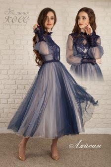 Вечернее платье Ляйсан миди