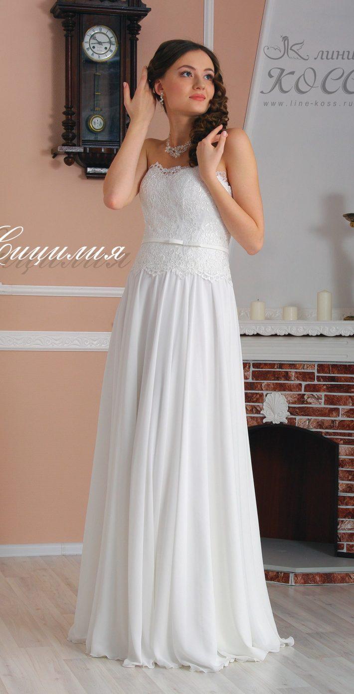 Свадебное платье Сицилия облегающее