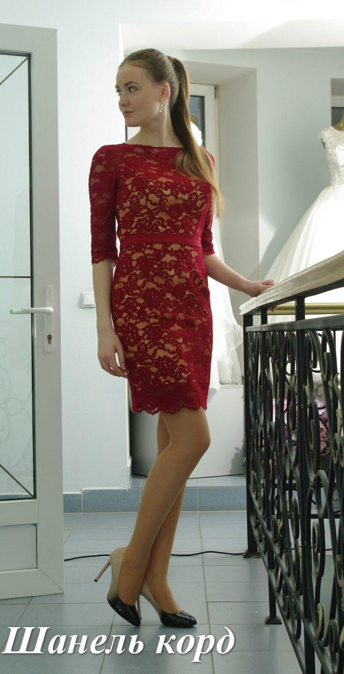 Вечернее платье Шанель Корд