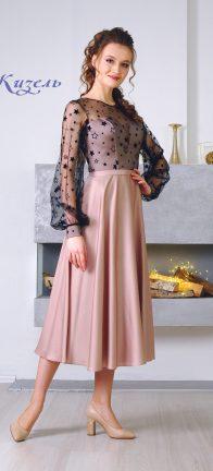 Вечернее платье Жизель Миди