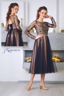 Вечернее платье Кармен