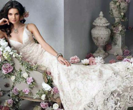 Самое красивое свадебное платье: На помощь придут кружева.